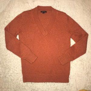 Burnt orange Vneck Sweater by Banana Republic